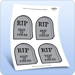 Rest in Pieces Halloween Labels