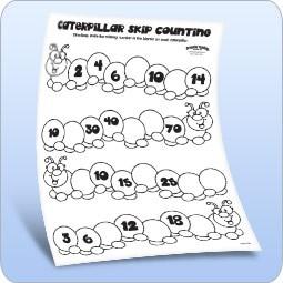 Caterpillar Skip Counting