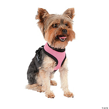 Mesh Dog Harness - Pink SM