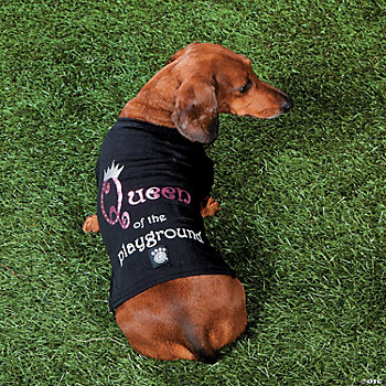 """Queen of the Playground"" Girl's Dog Shirt - MD"
