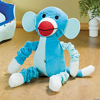 Plush Blue Monkey Squeaker Dog Toy