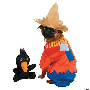 SCARECROW DOG COSTUME W/ TOY