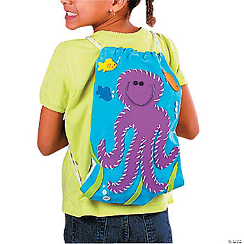 Sea Creatures Canvas Backpack