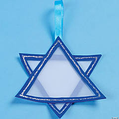 Foam and Vellum Star of David Light Catcher