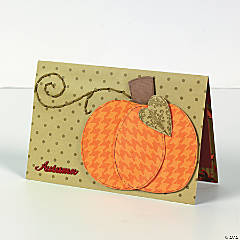 Stitched Pumpkin Card Idea