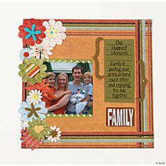 Family Flowers Finished Page Idea