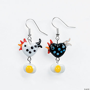 Chicken and Egg Earrings Project