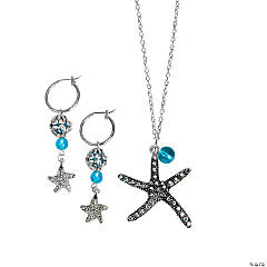 Metal Starfish Pendant Necklace & Earrings Project