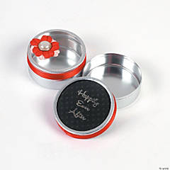 Wedding Round Tin Favors &