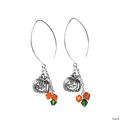 Brushed Wire Pumpkin Earring Idea