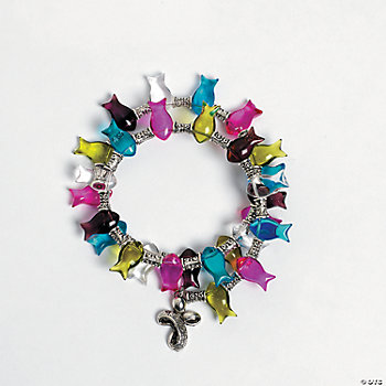 Glass Fish Memory Wire Bracelet Project