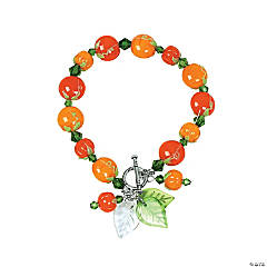 Autumn Pumpkin Toggle Bracelet Idea