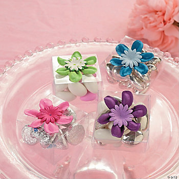 Clear Box Favor with Flower
