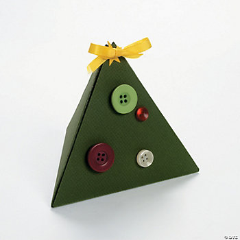 Christmas Tree Boxes with Buttons