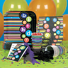 Birthday Pattern Party Supplies