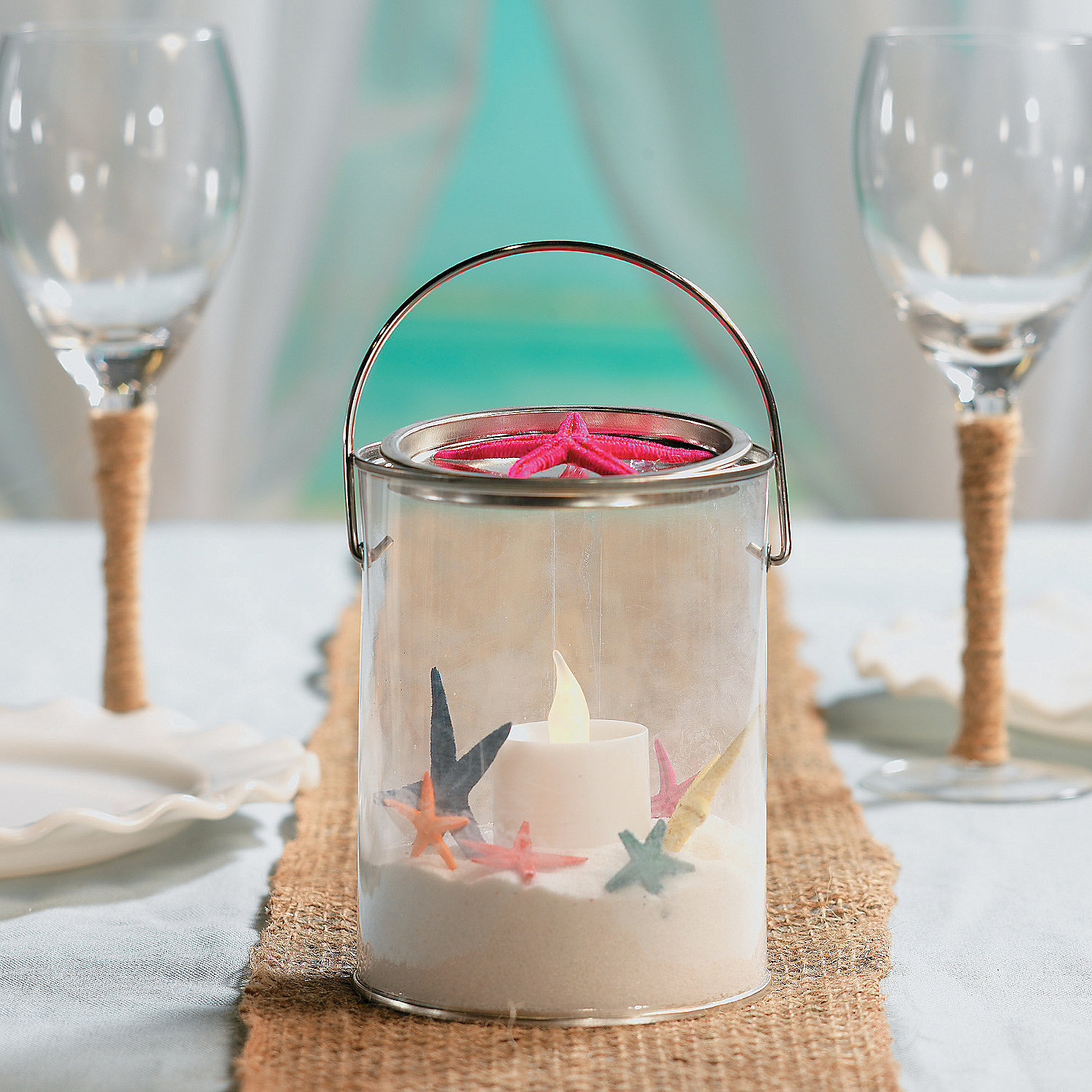 Diy bucket container centerpieces idea oriental trading
