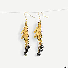 Goldtone Leaf Dangle Earrings