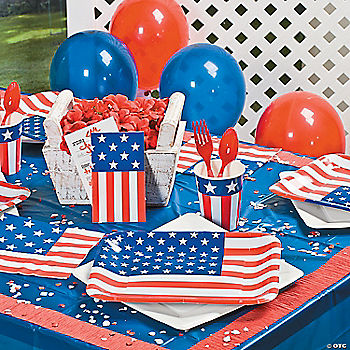 Patriotic party supplies for 4th of july party decoration