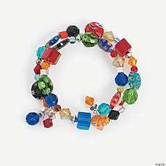 Jewel Tone Coil Bracelet Idea