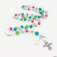 Bright Pearl Rosary Idea