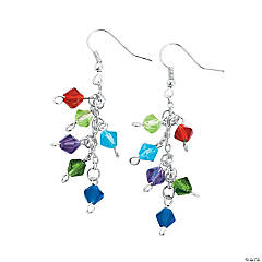 Crystal Bicone Earrings