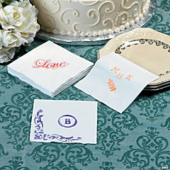 Stamped Napkins Idea