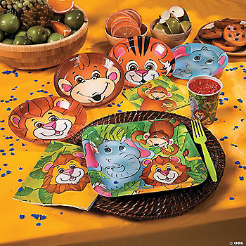 Zoo animal party supplies for Animal party decoration