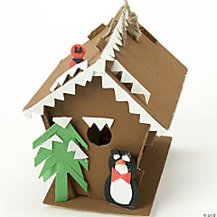 Arctic Log Cabin Birdhouse Idea