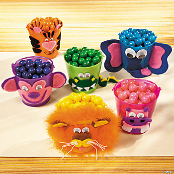 Safari Animal Mini Plastic Pails