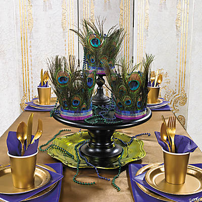 Peacock Feather Centerpieces Idea Oriental Trading