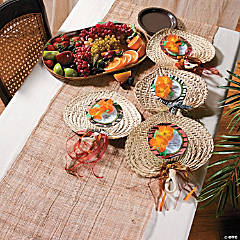 Safari Raffia Fans Idea