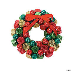 DIY Christmas Chocolate Wreath Idea