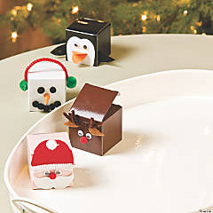 Christmas Faces Favor Boxes Idea