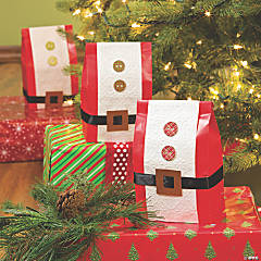 Santa Belt Favor Bags Idea