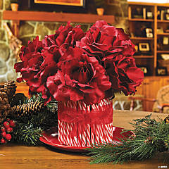 Candy Cane Flower Bouquet Idea