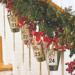 Advent Calendar Bucket Garland