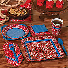 Red Bandanna Party Supplies