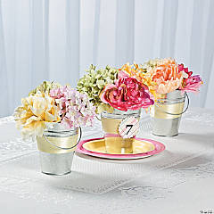 Tin Pail Flower Table Numbers