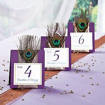 Peacock Wedding Table Idea