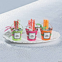 Metal Pail Ribbon Favors