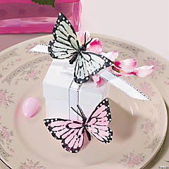 Feather Butterfly Favor Boxes Idea
