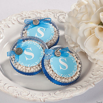 Round Monogram Containers