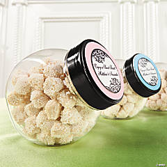 Personalized Mini Candy Jars Idea