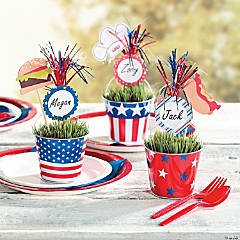 Patriotic Firework Place Cards
