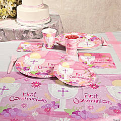 Pink 1st Communion Party Supplies