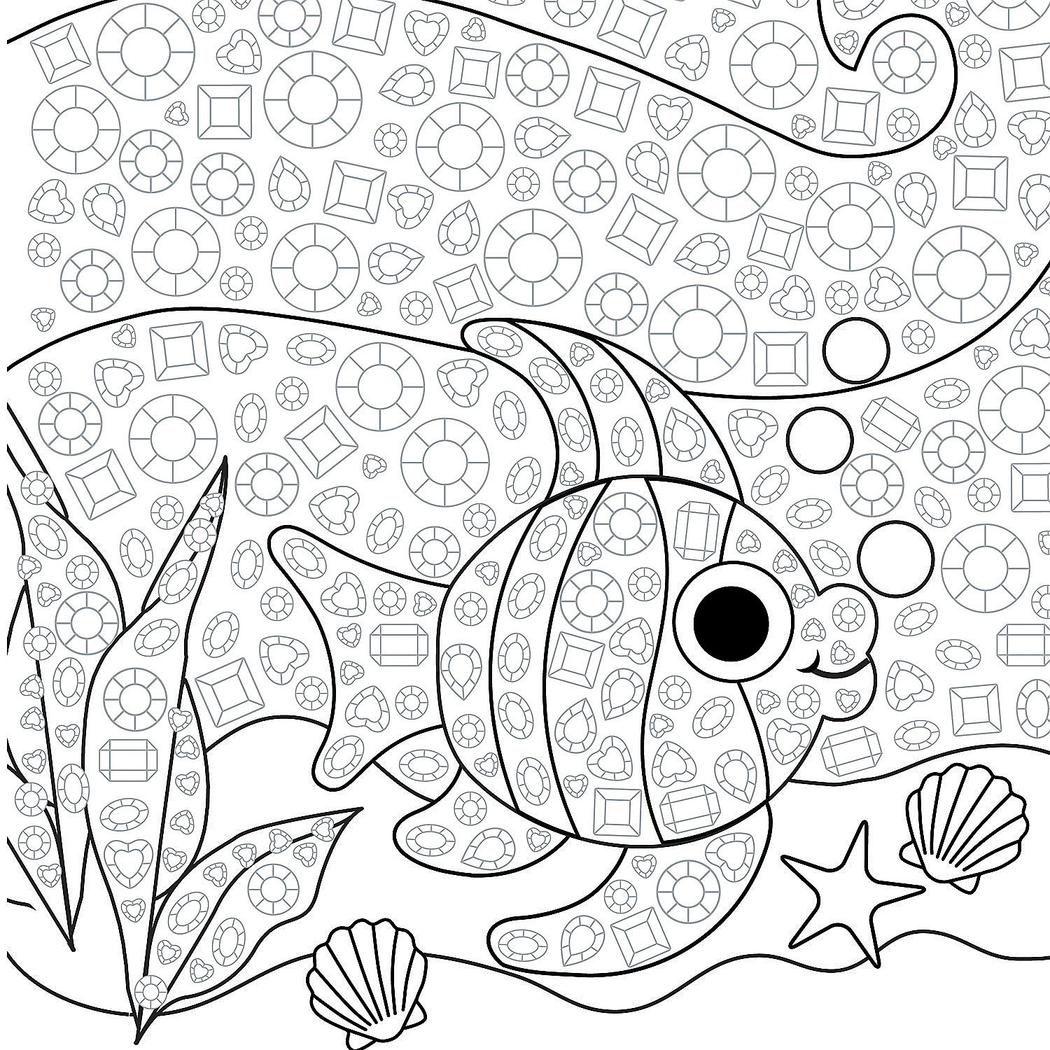 Jeweled Tropical Fish Mosaic Template Idea Oriental Trading