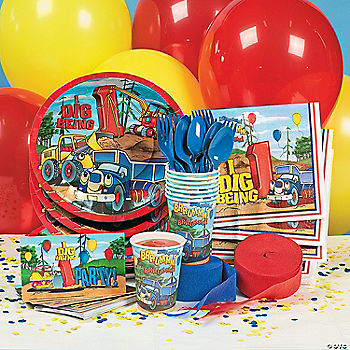 I Dig Being  Construction Theme First Birthday Party Supplies