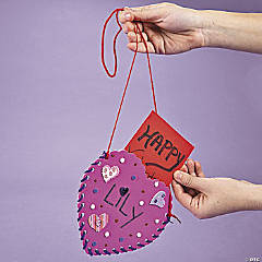 Valentine Holder Heart Shaped Pouch