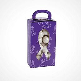 Purple Ribbon Party Favors