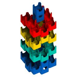 Q-BA-MAZE Bold Color Set - Helix Tower